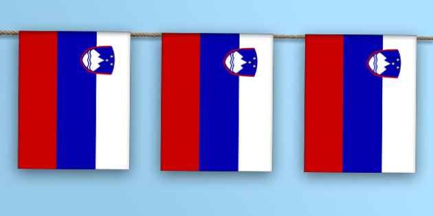 Slovenia Flag Bunting - flag, world, country, countries, Europe, display, Olympics, Rio, 2016, celebrate, event