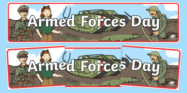 Armed Forces Day Display Banner