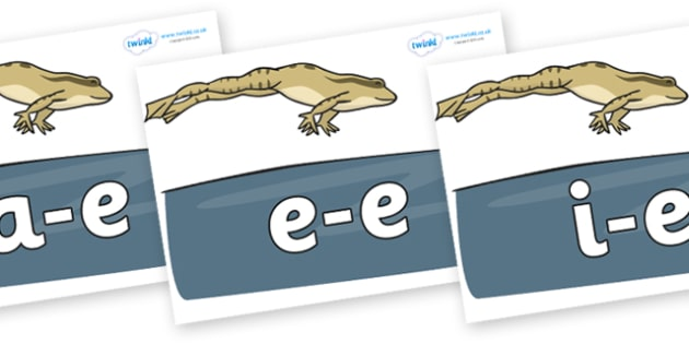 Modifying E Letters on Frog - Modifying E, letters, modify, Phase 5, Phase five, alternative spellings for phonemes, DfES letters and Sounds