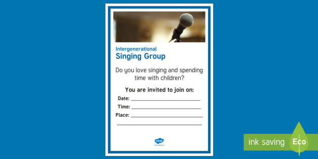 Intergenerational Singing A4 Display Poster  - Singing, Intergenerational, Tips, Elders, Children, Activity Co-ordinators, Care Homes, Elderly Care