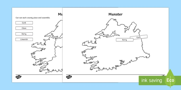 Build Ireland: Munster Jigsaw Puzzle Activity Sheets