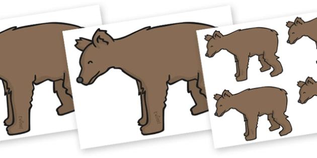 Editable Little Bear (A4) - Little Bear, bear, little, small, A4, young, bears, forest, animal, animals, wild