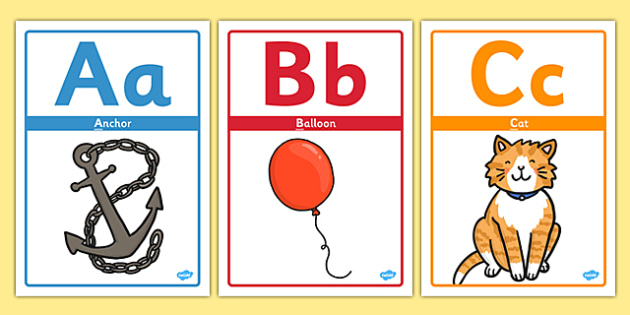 Alphabet Picture Display Posters - Alphabet freize, display, poster, Initial sound posters, Sound picture cards, Phonics,  DfES Letters and Sounds