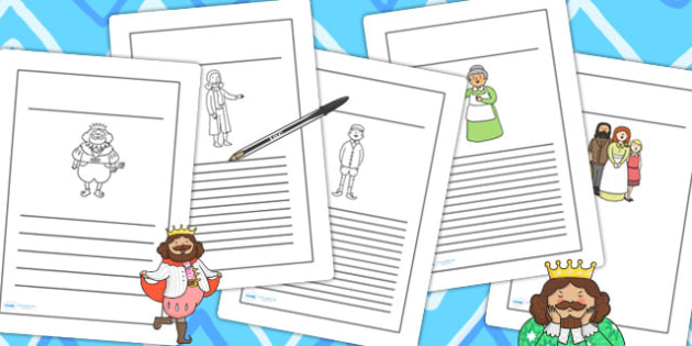 The Emperor's New Clothes Writing Frames - writing aid, line guide
