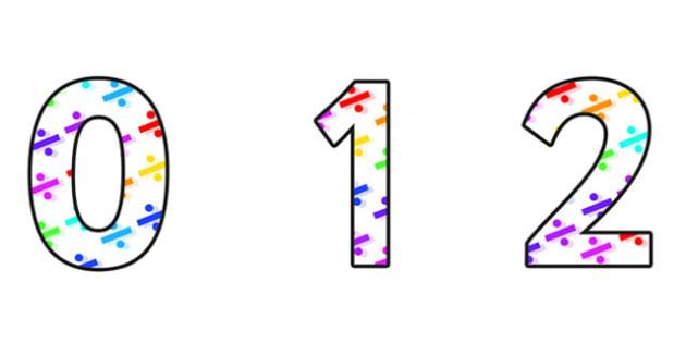 Division Display Numbers - division, volume themed numbers, volume numbers, volume cut out numbers, volume themed display numbers, volume display, ks2 math