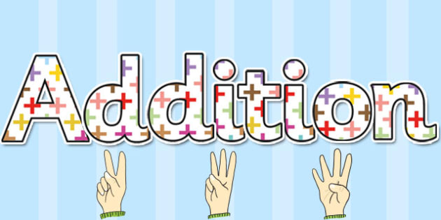 Addition Themed Display Lettering - addition, display, lettering