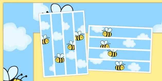Bee Themed Display Borders - bee, display borders, display, borders