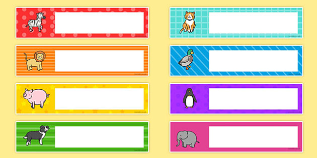 Cute Animals Editable Gratnells Tray Labels - tray label, animals