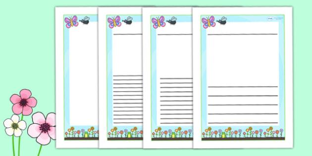 Spring Themed Writing Frames - spring, seasons, weather, write