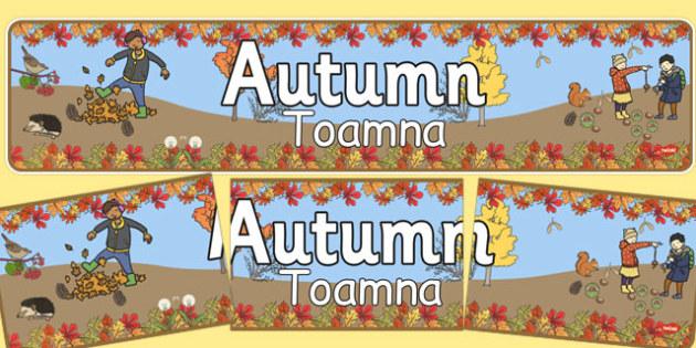Autumn Banner Romanian Translation - romanian, autumn, banner, display