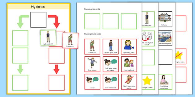 My Choice Editable Behaviour Chart - my choice, behaviour, chart