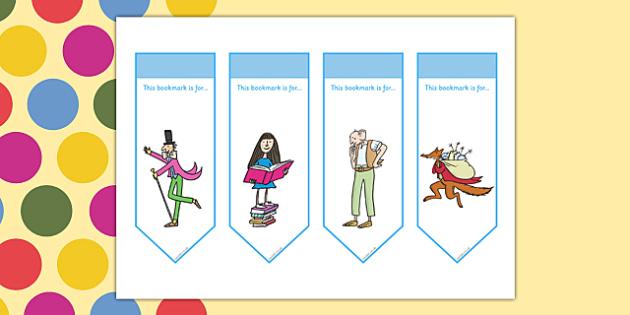 Roald Dahl Bookmarks - Roald Dahl, bookmarks, roald dahl bookmarks, roald dahl themed bookmarks, roald dahl themed, bookmark