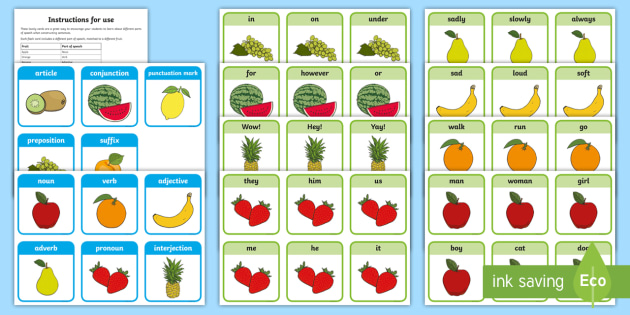 Fruit salad sentences Cut Outs - Sight word games,Australia