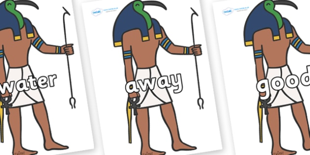 Next 200 Common Words on Egyptian Gods - Next 200 Common Words on  - DfES Letters and Sounds, Letters and Sounds, Letters and sounds words, Common words, 200 common words