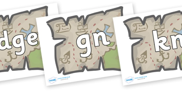 Silent Letters on Treasure Maps - Silent Letters, silent letter, letter blend, consonant, consonants, digraph, trigraph, A-Z letters, literacy, alphabet, letters, alternative sounds