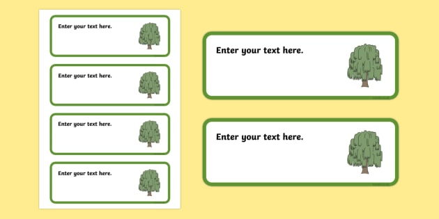 Willow Themed Editable Drawer-Peg-Name Labels (Colourful) - Themed Classroom Label Templates, Resource Labels, Name Labels, Editable Labels, Drawer Labels, Coat Peg Labels, Peg Label, KS1 Labels, Foundation Labels, Foundation Stage Labels, Teaching L