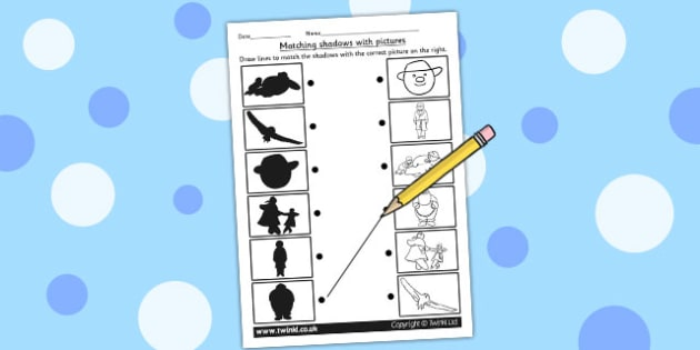 Shadow Matching Worksheet to Support Teaching on The Snowman - worksheets, match, winter
