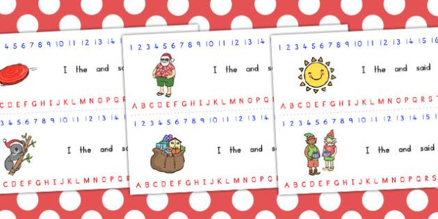Christmas Combined Alphabet Number Strip - australia, christmas