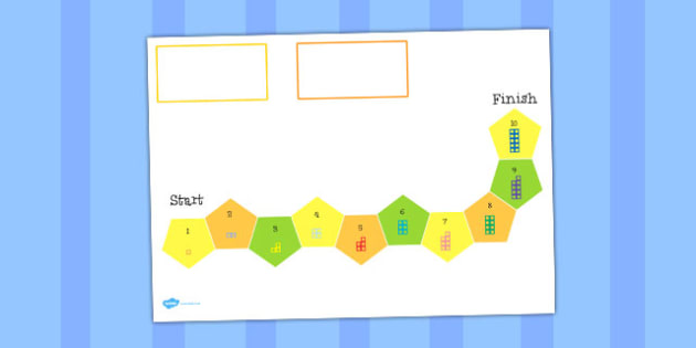 Counting Number Shapes Board Game 1 to 10 - counting, number, shapes, board game