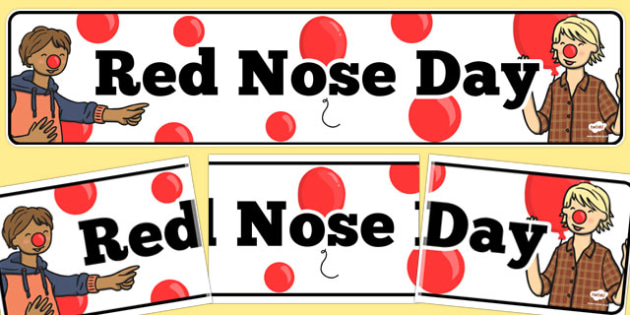 Red Nose Day Display Banner - red nose day, display, banner