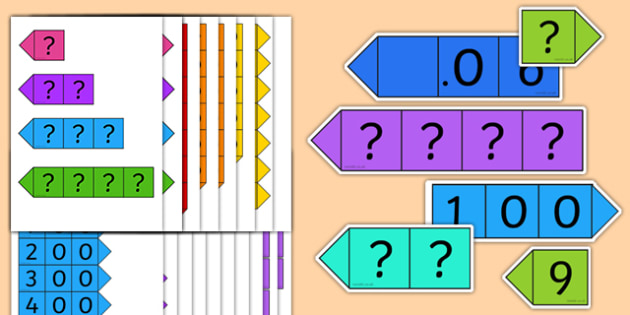 Place Value and Decimal Place Card Pack - numeracy, maths, values