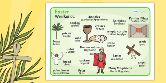 Easter Word Mat Polish Translation - easter, word, mat, polish
