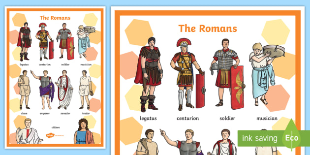 Roman People Vocabulary Mat - literacy, mats, visual, romans