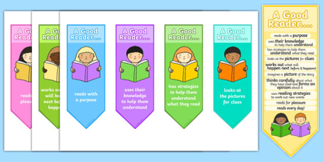 A Good Reader Bookmarks - reading, literacy, books, bookmarks