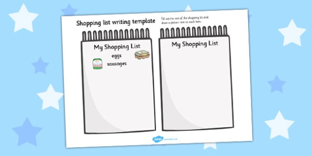Shopping List Template - templates, shops, lists, organised