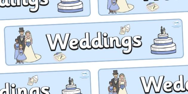 Wedding Display Banner - Wedding, display, banner, poster, wedding, marriage, bride, groom, church, priest, vicar, dress, cake, ring, rings, bridesmaid, flowers, bouquet, reception, love