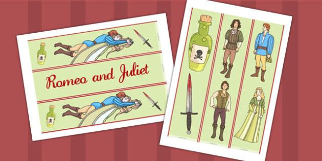 Romeo and Juliet Display Borders - shakespeare, borders, display