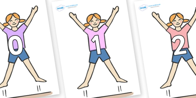 Numbers 0-50 on Star Jumps - 0-50, foundation stage numeracy, Number recognition, Number flashcards, counting, number frieze, Display numbers, number posters