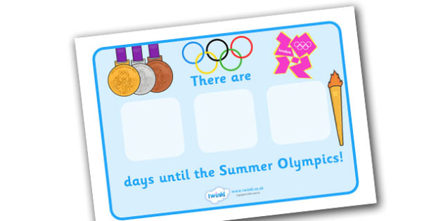 Countdown To The Olympics Poster - The Okympics, countdown, counting down, display, banner, sign, poster, resources, 2012, London, Olympics, events, medal, compete, Olympic Games