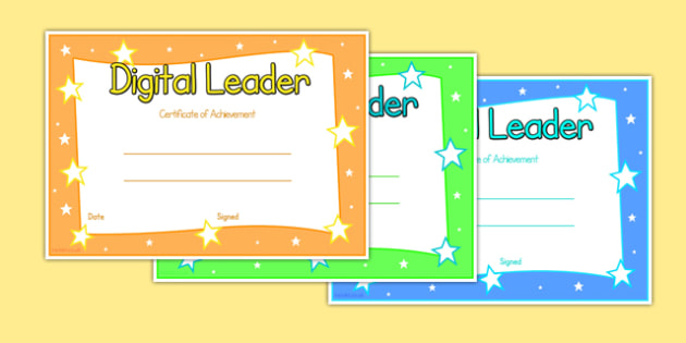 Digital Leaders Certificate - digital leaders, certificate, digital, leaders
