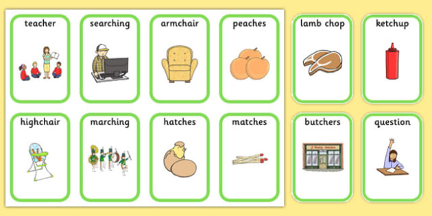 Medial 'ch' Playing Cards -speech sounds, phonology, articulation, speech therapy, dyspraxia