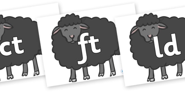 Final Letter Blends on Baa Baa Black Sheep - Final Letters, final letter, letter blend, letter blends, consonant, consonants, digraph, trigraph, literacy, alphabet, letters, foundation stage literacy