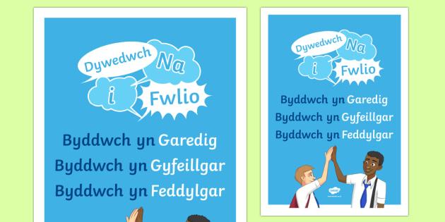 Poster Wythnos Gwrth Fwlio: Dywedwch Na i Fwlio Poster A2-Welsh - WLW Wythnos Gwrth-Fwlio CS (Anti-Bullying Week Foundation Phase 14-18 of Nov), Wythnos Gwrth-Fwlio. - WLW Wythnos Gwrth-Fwlio CS (Anti-Bullying Week Foundation Phase 14-18 of Nov), Wyt