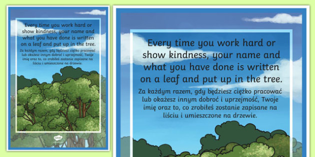 Achievement Tree Motivational Poster Polish Translation - polish, achievement, tree, poster