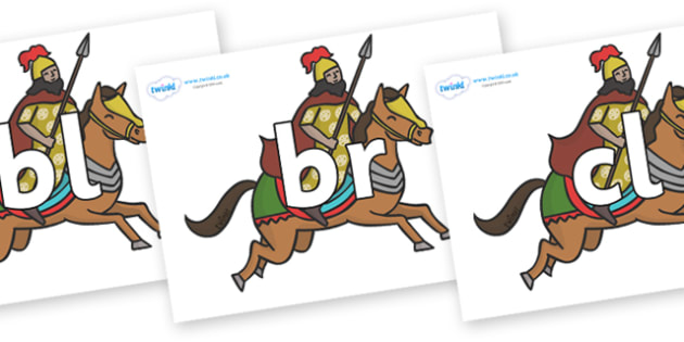 Initial Letter Blends on Egyptian Warriors - Initial Letters, initial letter, letter blend, letter blends, consonant, consonants, digraph, trigraph, literacy, alphabet, letters, foundation stage literacy