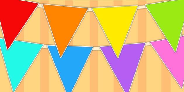 Multicoloured Display Bunting - bunting, display, display bunting