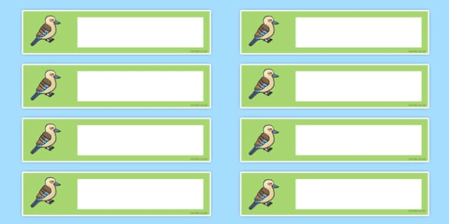 Kookaburra Tray Labels - kookaburra, tray labels, tray, labels