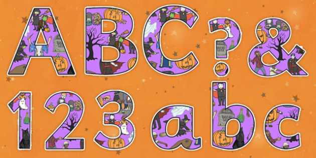 Halloween Themed Display Lettering-halloween, themed, display, lettering, display lettering, halloween lettering, halloween display