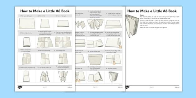 How to Make a Little A6 Book - how, make, little, a6, book, activity