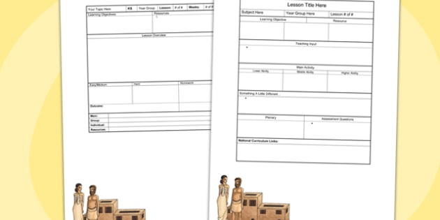 Ancience Indus Editable Individual Lesson Plan Template - plan
