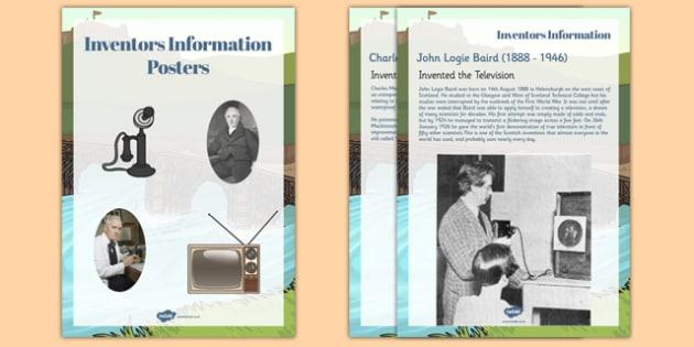 Scottish Inventors Information Display Posters Text - scottish, inventors, information, display, posters