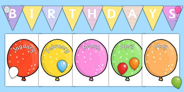 Balloon Themed Birthday Display Pack - birthday, display, pack