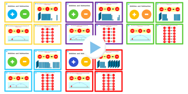 Year 3 Addition and Subtraction PowerPoints Pack Lesson 2 - pack