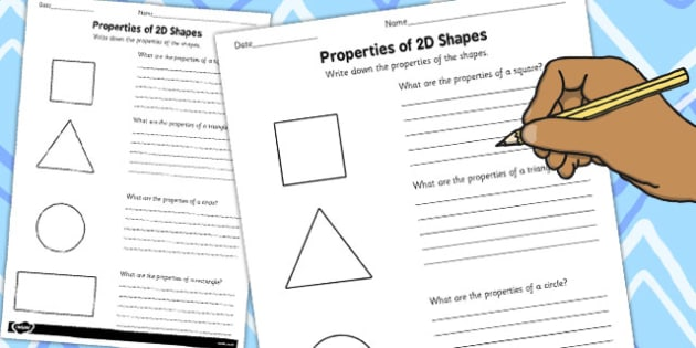 Year 1 Properties Of 2D Shapes Activity Sheet Pack - activity, sheets, worksheet