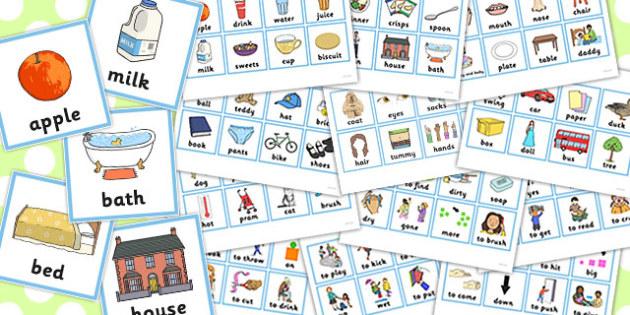 First Word Cards Older Children - first, word, cards, older