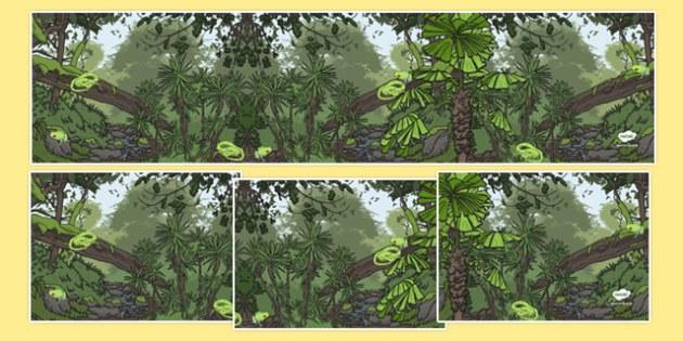 Australian Tropical Rainforest Habitat Small World Background - australia, Science, Year 1, Habitats, Australian Curriculum, Tropical, Rainforest, Living, Living Adventure, Environment, Living Things, Animals, Small World